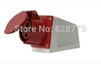 waterproof industrial plug ,socket T-1240 4PIN 32A wall socket