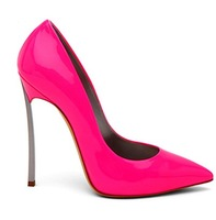 2014 Plus Size 33-42 Neon Yellow Thin Heel Pointed Loyal Blue Women's Pumps High Heels Genuine Leather  Vintage Sexy Women shoes
