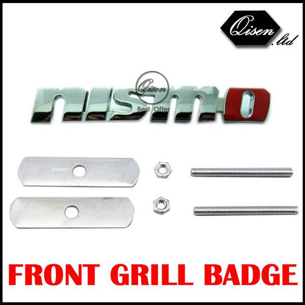 Nismo GTR 3D Logo Car Hood Front Grill Badge Emblem Logo Sticker For Skyline 180SX GTR R35 R50 Qashqai Tiida S13 S14 #SO096(China (Mainland))