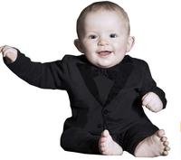 Wholesale 3pcs/lot 1-3Age white black cotton baby rompers spring autumn baby suit jumpsuit for boys clothing HR140730-1