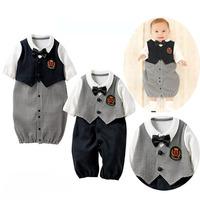 2014 Autumn body baby Cotton roupas de bebe Long Sleeve boy romper Casual baby boys clothing