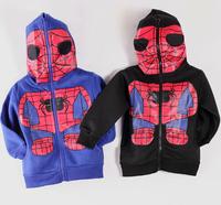 2014 Boys Girls cute Spiderman Print Hoodie Jumper Top with Mask hood AGE 2-7 Years