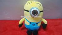 2014 New Sale Minions Blasting Stuffed Toy/god Steal Milk Dad3 D minions  / 20cm Free Shipping