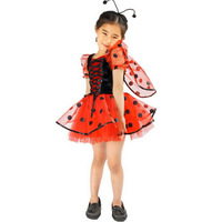 Lovely Fancy Red Ladybug Children Girls Cosplay Halloween Carnival Party Costumes for Kids Fantasias Para Festas Infantil LQ5