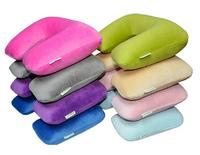 Travel of the triple gem velvet u-shaped air pillow