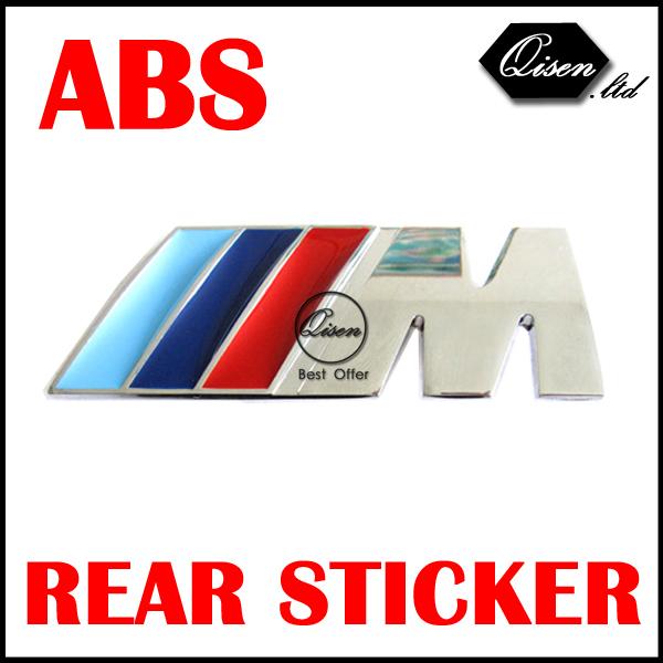 30 X ABS M POWER 3D Chrome BADGE Emblem Decoration Sticker for X1 X3 X5 X6 E36 E39 E46 E30 E60 E92 BLUE WHITE #SO132(China (Mainland))