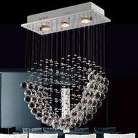 Modern Chandelier K9 Crystal Ball Art Luminaire Decoration Rain Drop Luster Pendant Lamp Ceiling Chandeliers Free shipping PL423