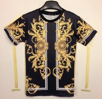 Classic 3D T-shirt 2014 summer fashion Women/men's 3d tshirt print medusa Phoenix Wings golden flowers men tees top WT57