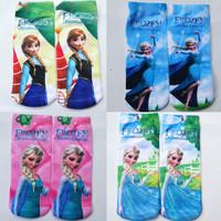 1 Pair 19CM Girl's Kid children Frozen Princess QUEEN Printing Cartoon Ankle Socks
