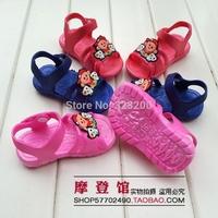 2014  Package mail cartoon antiskid children sandals female baby toddler shoes plastic children's not wet