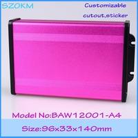 (1 piece )  aluminum extrusion enclosure /aluminum extrusion box 96*33*140 mm