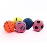New arrival Pretty  pet  dog toy dog silicone solid ball elastic dog ball tdog toys