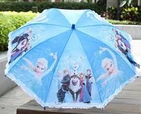 1X HANGING frozen PRINCESS QUEEN Long-handle children Kids Umbrella Whistle gift x40