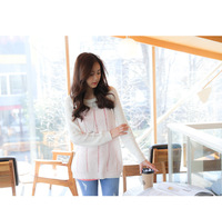 2014 New Cardigan Women, Autumn Long Sleeve Pullovers Casual Thin Sweet White Women Sweater, Loose knitted Sweater -F6622