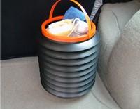 Magic 4L water tube plastic bucket car glove box car retractable folding bucket auto supplies