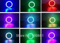 2.5inch rainbow hid headlight projector lens+multicolor angel eye with RGB controller