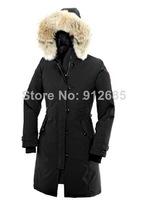 Hot sell Long Down&Parkas Women's Goose Down Jacket Outerwear Windproof Jacket Warm Coats