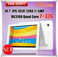 "10.1"" Cube U30gt U30gt2 Quad Core Android 4.1 RK3188 Tablet pc 1.6GHz 2GB 32GB HDMI Wifi Bluetooth Dual camera"