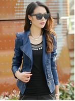 New 2014 women's Autumn winter  Leather jackets coat women show thin slim zipper PU jacket  female woman F0042