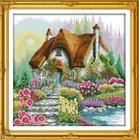 Free Shipping Flower Home Counted Cross Stitch Unfinished Cross Stitch DIY Dimension Cross Stitch Kits for Embroidery Needlework