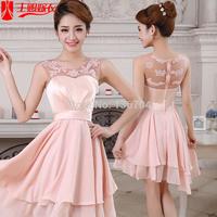 2014 red evening dress slit neckline slim l156
