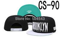 Cayler And Sons Snapback Cap BROOKLYN Black Hat with White Peak CS-90