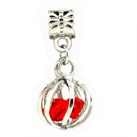 2 Pieces/lot,2014 New Arrival 925 Silver Bead,Pumpkin Rhinestone Pendant Fit Pandora Charms Bracelets ,Necklaces&Pendants,SPP033