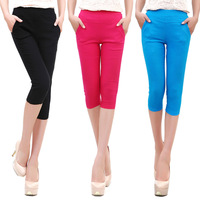 New 2014 Significant new large size women skinny leg pant candy colored pencil pants Leggings