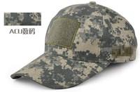 Outdoor Tactical Caps With Velcro Sports Men Baseball Cap Cotton Camouflage Combat Visors Sun Hat ACU Color