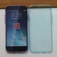 0.6mm Ultra Slim tpu case Wave Curve Gel Cover TPU Cover Case for iphone 6
