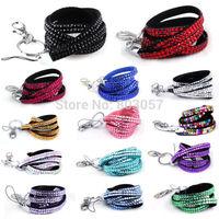 2014 Hot Free shipping(100pcs/lot) Wholesale Fashion 38 colors crystal lanyard strap