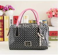 FREE SHIPPING Gu women's s handbag 2014 women's handbag handbags polka dot handbag cross-body dual-use package bucket handbag