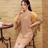 Free shipping!  2014 autumn gentlewomen fashion patchwork one-piece dress! 1178107