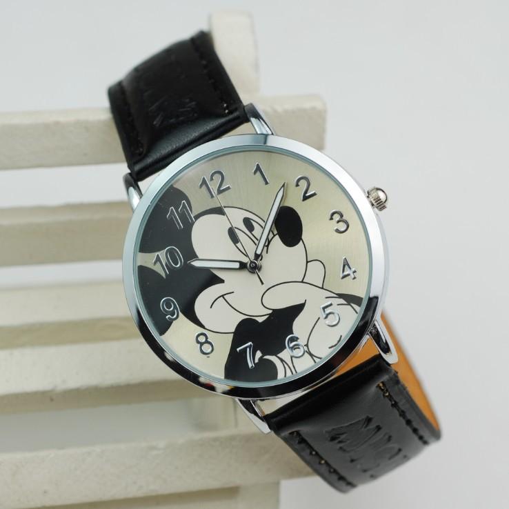 Hot vente 2014 nouvelle marque de mode bracelet en cuir mignonnequalité mickey mouse cartoon chat, montres enfants montres cadeaux de gros