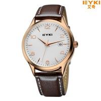 EYKI Luxury Jewelry brand Hot Sale Fashion New Promotion Watches Men's Business Casual Sports Leather Quartz Watch