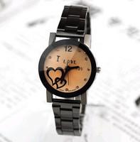 Free Shipping Fashion Watches Stainless Steel Brand Wristwatches Crystal Round Quartz Dress Men's Women Lovers' Watch