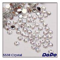 SS30 6.5mm Crystal Color 1000pcs/pack Flat back Acrylic Rhinestones