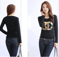 Plus Size XXXL blusas femininas 2014 autumn women's clothing  long sleeveT-shirt  atacado roupas render women  t-shirt