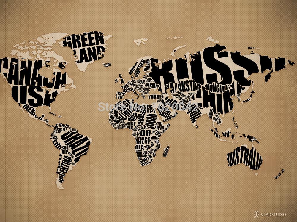 Frete Grátis mapa político do mundo da arte decorativa imperial Silk Poster adesivos de parede Decora??o 24x36 polegadas A001 .(China (Mainland))