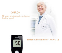 Free Shipping Home or Hospital Use Omron Blood Glucose Meter Strip Glucose Monitoring System Blood Sugar