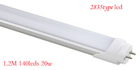 """A"" level, CE and Rohs, SMD 2835 20W 140LEDS 120CM 2000lm T8 LED Tube 30pcs/lots,5 years warranty."