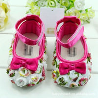Fashion Flower brand shoes for girls, comfortable soft sole baby shoes branded princess shoes for first walkers, 6 pairs/lot!