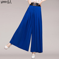 The new tall waist pleated chiffon long in fashion chiffon skirts pants