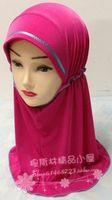 Fashion Cute Princess Viscose Children Muslim Hijab Hat bandanas Children Accessory Cap