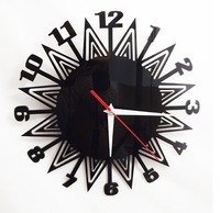 European fashion acrylic wall clocks metallic feel decorative clock silence  movement personalized home decoration