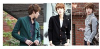 4ag 2014 new arrival Japanese Korean fashion men's stand mandarin collar cardigan sweaters influx thin coat sweater