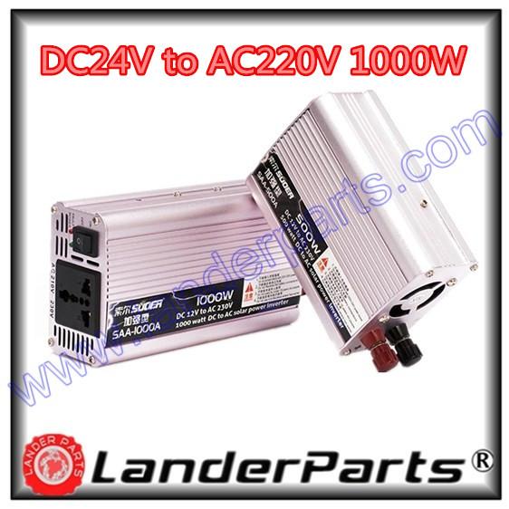 Suoer power supplier,DC 24V to AC 220V 1000W (Watt) power inverter,car power converter,auto parts,cars power converters,SAA1000(China (Mainland))