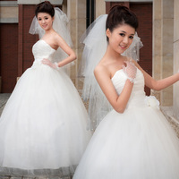 Free shipping ! 2014 sexy bride dress princess wedding dress Floor - length or Church Train Formal Dress