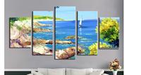 5 Piece Art Set! Seascape Landscape! 100% Hand painted Oil Painting On Canvas Top Home Decoration paint