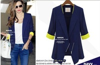 2014 new arrival medium-long suit for women Thin slim small suit blazer office lady women European style fashion blazer female